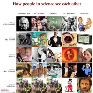 How people in science see each other logo