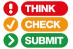Think. Check. Submit. logo